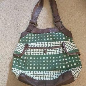 Lucky Brand Vintage Inspired Green Shoulder Bag